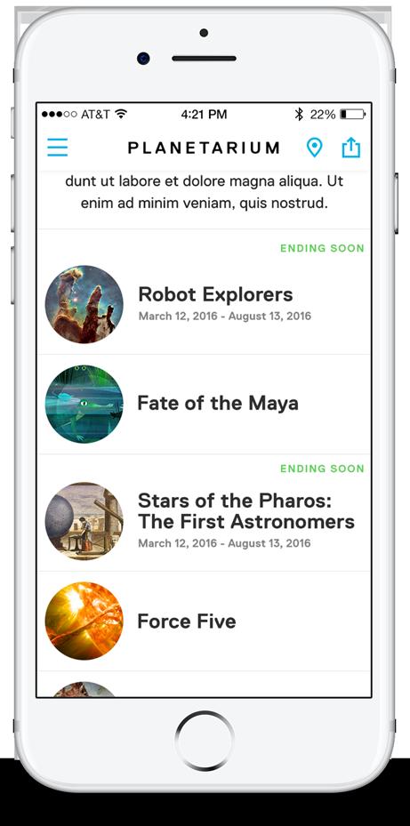 Frost App Planetarium Section